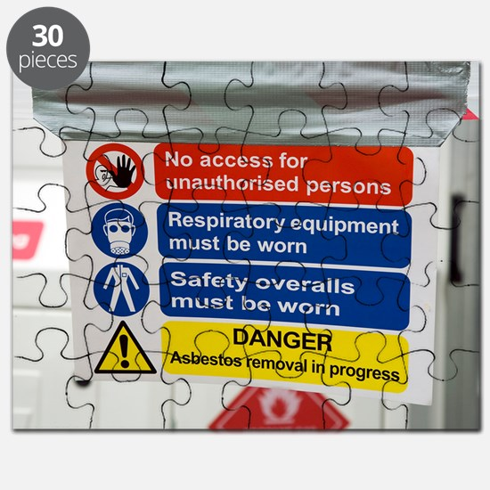 Asbestos removal warning signs Puzzle
