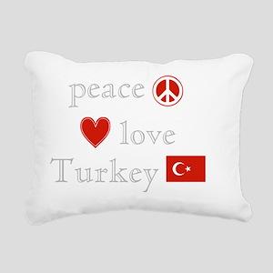 Peace Love Turkey Rectangular Canvas Pillow