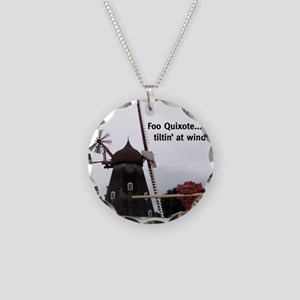 Quixote Foo Necklace Circle Charm