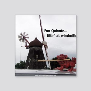 """Quixote Foo Square Sticker 3"""" x 3"""""""