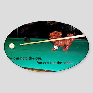 Pool Shark Foo Sticker (Oval)