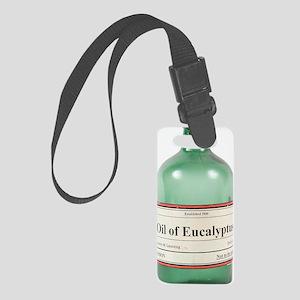 Antique eucalyptus oil bottle Small Luggage Tag
