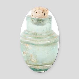 Antique bottle Oval Car Magnet