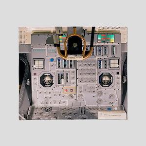 Apollo Lunar Module interior Throw Blanket