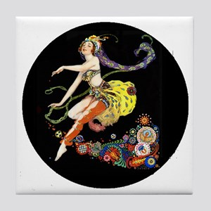 Art Deco Pogany Dancer Tile Coaster
