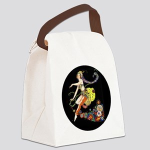 Art Deco Pogany Dancer Canvas Lunch Bag
