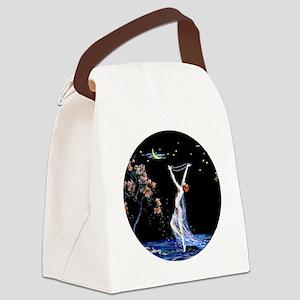 Art Deco Tsanya Night Dancer Canvas Lunch Bag