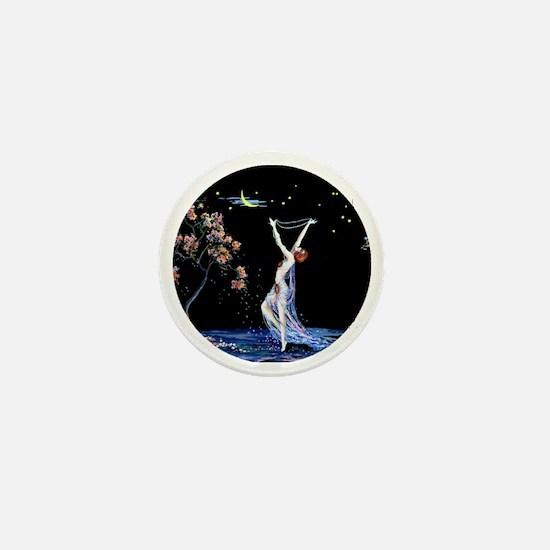 Art Deco Tsanya Night Dancer Mini Button