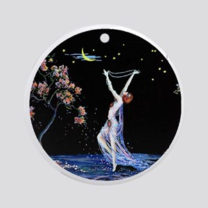 Art Deco Tsanya Night Dancer Round Ornament