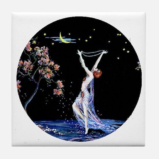 Art Deco Tsanya Night Dancer Tile Coaster