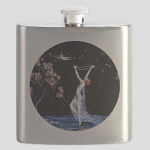 Art Deco Tsanya Night Dancer Flask