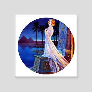 "Art Deco Lady -Egypt. Square Sticker 3"" x 3"""