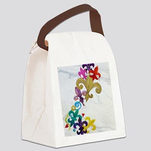 Fleur de lis party Canvas Lunch Bag