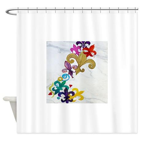 Fleur de lis party shower curtain by admin cp3632229 - Fleur de lis shower curtain hooks ...