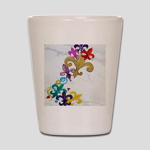 Fleur de lis party Shot Glass