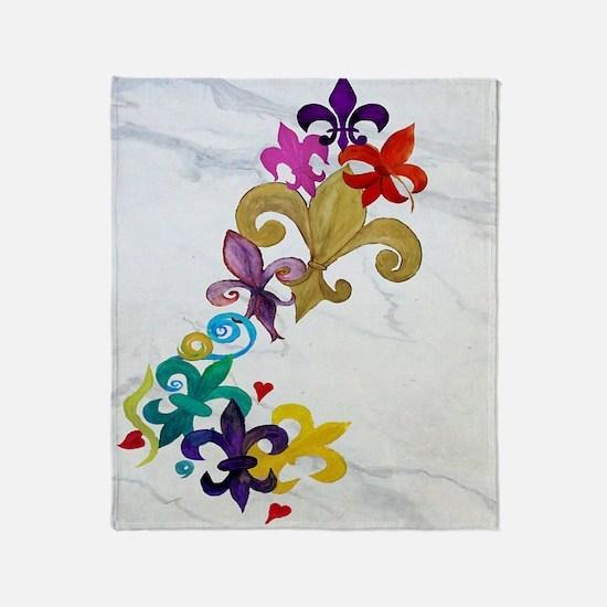Fleur de lis party Throw Blanket