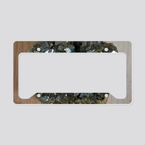 Andradite crystals License Plate Holder