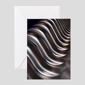 Aluminium wave Greeting Card