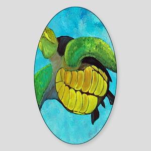 Sea Turtle Sticker (Oval)