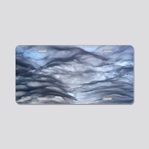 Altocumulus undulatus cloud Aluminum License Plate