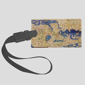 Al-Idrisi's world map, 1154 Large Luggage Tag