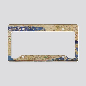 Al-Idrisi's world map, 1154 License Plate Holder