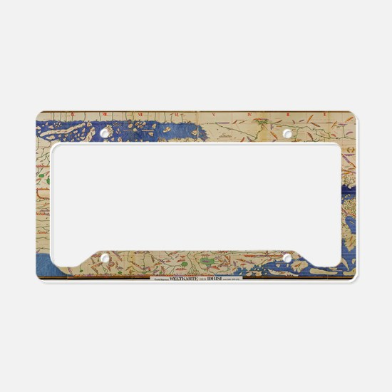 Al-Idrisi's world map, 1154 License Plate Holder