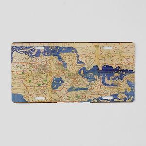 Al-Idrisi's world map, 1154 Aluminum License Plate