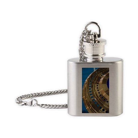 Aircraft engine component Flask Necklace