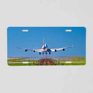 Aeroplane landing, Canada Aluminum License Plate
