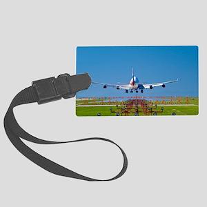 Aeroplane landing, Canada Large Luggage Tag