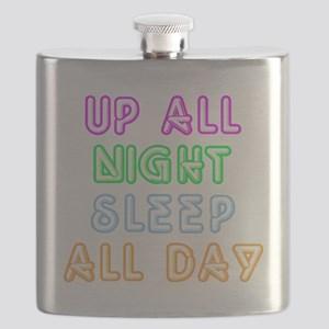 Up All Night Sleep All Day Flask