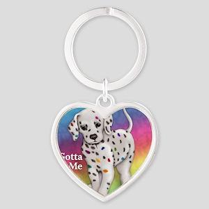 I Gotta Be Me dalmatian Heart Keychain