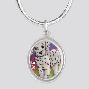 I Gotta Be Me dalmatian Silver Oval Necklace
