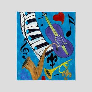 Jazz Music Throw Blanket