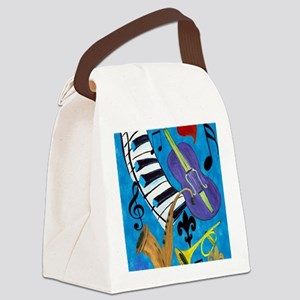 Jazz Music Canvas Lunch Bag