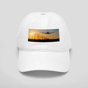 Aeroplane landing at sunset, Canada Cap