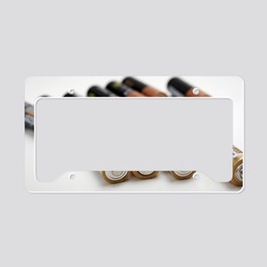 AA batteries License Plate Holder