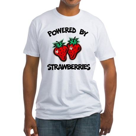 Powered By Strawberries Fitted T-Shirt
