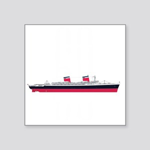 "SS United States 60th Anniv Square Sticker 3"" x 3"""