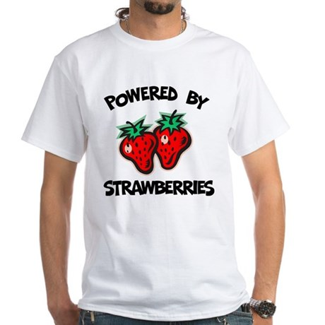 Powered By Strawberries White T-Shirt