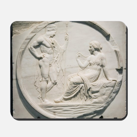 Achilles consulting Pythia, Roman carvin Mousepad