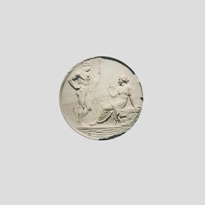 Achilles consulting Pythia, Roman carv Mini Button