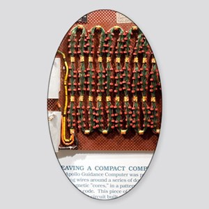 Apollo guidance computer memory Sticker (Oval)