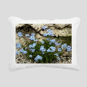 Alpine Forget-me-not (My Rectangular Canvas Pillow