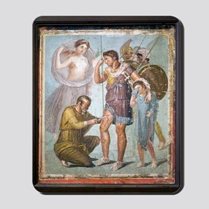 Battle wounds of Aeneas, Roman fresco Mousepad