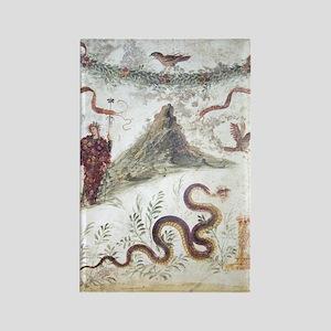 Bacchus and Vesuvius, Roman fresc Rectangle Magnet