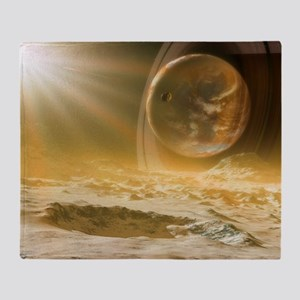 Alien landscape, artwork Throw Blanket