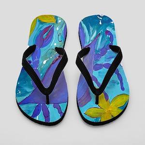 Crab Island Flip Flops