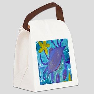 Crab Island Canvas Lunch Bag